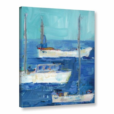 'Nautical Boats' Painting Print on Wrapped Canvas Size: 10