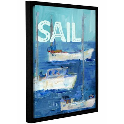 'Nautical Boats Sail' Framed Painting Print on Wrapped Canvas Size: 10