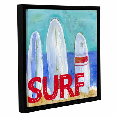'Nautical Surfboards Surf' Framed Painting Print on Wrapped Canvas Size: 10