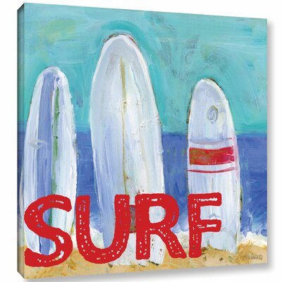 'Nautical Surfboards Surf' Painting Print on Wrapped Canvas Size: 10