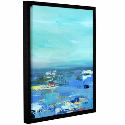 Abstract Harbor 9 Water Makes Me Happy Framed Painting Print on Wrapped Canvas Size: 10