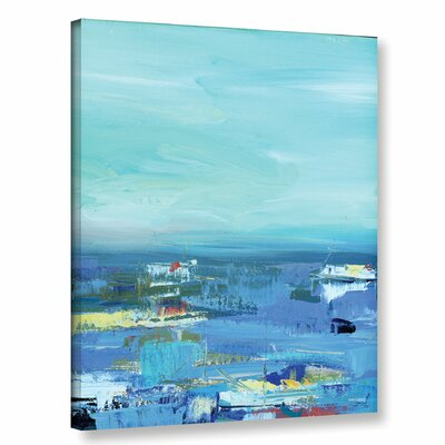 Abstract Harbor 9 Water Makes Me Happy Painting Print on Wrapped Canvas Size: 10
