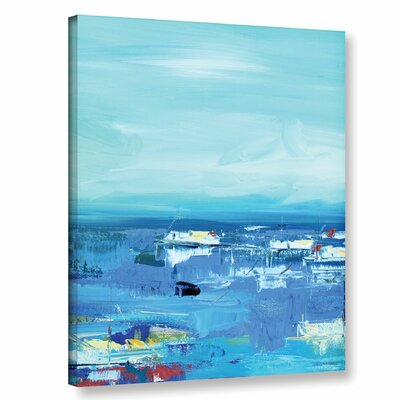 Abstract Harbor 10 Morning on the Water Painting Print on Wrapped Canvas Size: 10