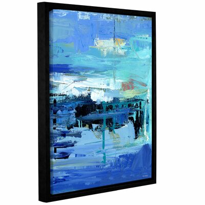 Abstract Harbor 11 Evening on the Water Framed Painting Print on Wrapped Canvas Size: 10