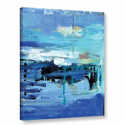 Abstract Harbor 11 Evening on the Water Painting Print on Wrapped Canvas Size: 10