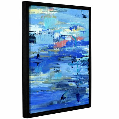 Abstract Harbor 12 I Love the Water Framed Painting Print on Wrapped Canvas Size: 10