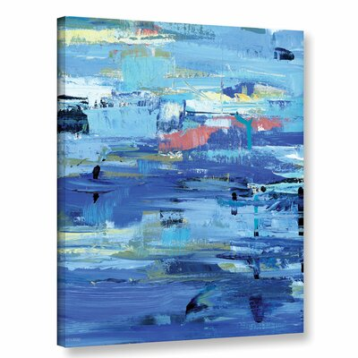 Abstract Harbor 12 I Love the Water Painting Print on Wrapped Canvas Size: 10