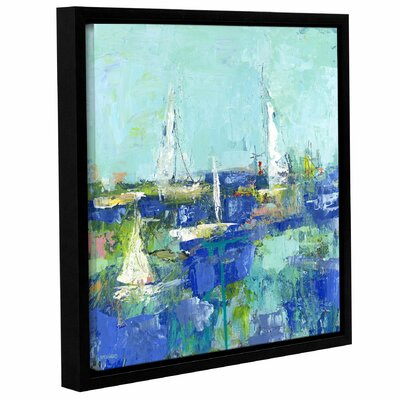 Abstract Harbor 3 Where I Want to Be Framed Painting Print on Wrapped Canvas Size: 10