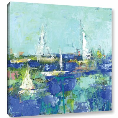 Abstract Harbor 3 Where I Want to Be Painting Print on Wrapped Canvas Size: 10