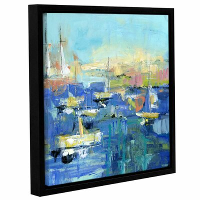 Abstract Harbor 7 Easy Sunday Framed Painting Print on Wrapped Canvas Size: 10