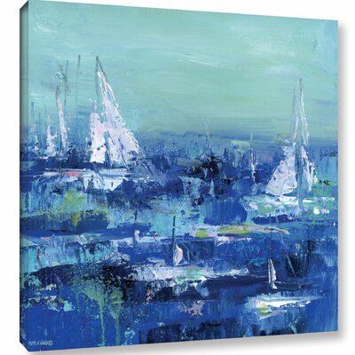 Abstract Harbor 13 Feeling Peacful Painting Print on Wrapped Canvas Size: 10