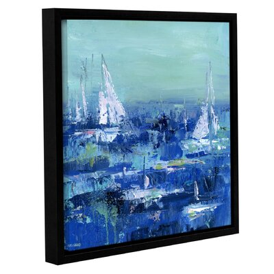 Abstract Harbor 13 Feeling Peacful Framed Painting Print on Wrapped Canvas Size: 10