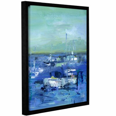 Abstract Harbor 14 Just Happy Framed Painting Print on Wrapped Canvas Size: 10
