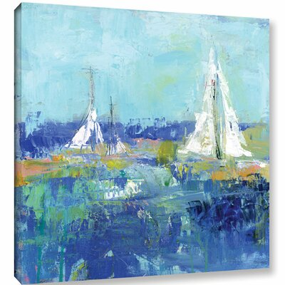 Abstract Harbor 2 Anything Better Painting Print on Wrapped Canvas Size: 10