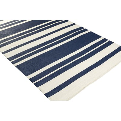 Walden Hand-Woven Blue Outdoor Area Rug Rug size: Rectangle 2 x 3