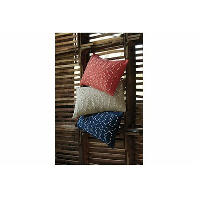 Dahlia Cotton Lumbar Pillow Color: Coral
