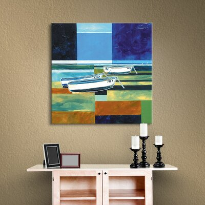 Abstract Boats III Painting Print on Wrapped Canvas