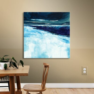 Winter Beach Painting Print on Wrapped Canvas Size: 10