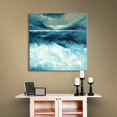 Winter Norfolk Sea Painting Print on Wrapped Canvas Size: 10