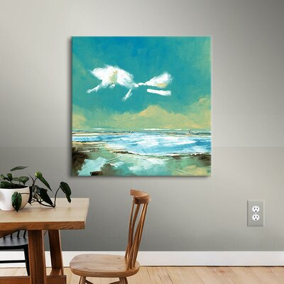Beach I Painting Print on Wrapped Canvas