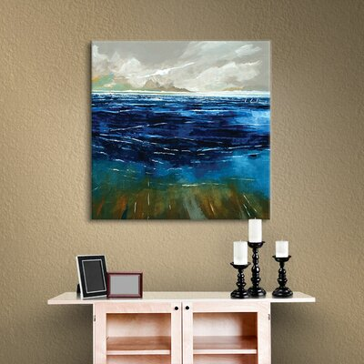 Beach and Sea Painting Print on Wrapped Canvas