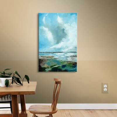 Seascape Painting Print on Wrapped Canvas Size: 18