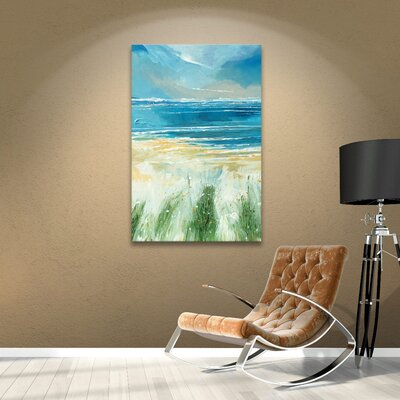 Summer Sea and Beach Painting Print on Wrapped Canvas Size: 18