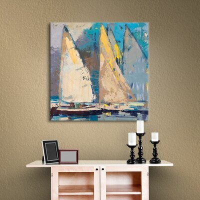 Breeze, Sail and Sky Framed Painting Print