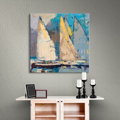 Breeze, Sail and Sky Painting Print on Wrapped Canvas