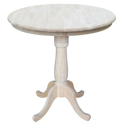 Weston Counter Height Extendable Dining Table Color: Unfinished