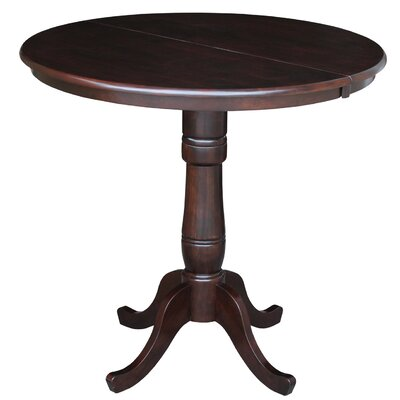Weston Counter Height Extendable Dining Table Color: Rich Mocha