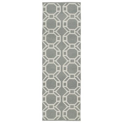 Fowler Gray/Cream Indoor/Outdoor Area Rug Rug Size: Runner 2 x 6
