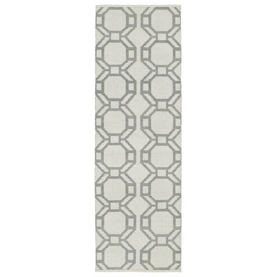 Fowler Cream/Gray Indoor/Outdoor Area Rug Rug Size: Runner 2 x 6