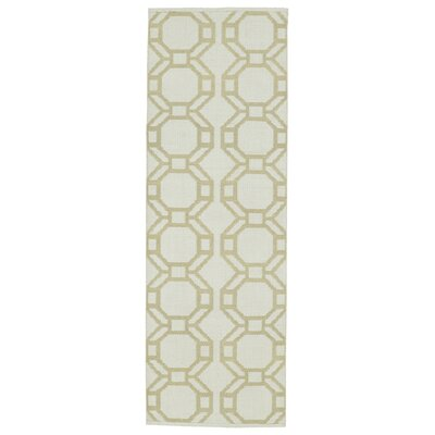 Fowler Cream/Khaki Indoor/Outdoor Area Rug Rug Size: Runner 2 x 6
