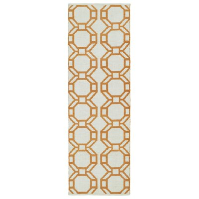 Fowler Cream/Orange Indoor/Outdoor Area Rug Rug Size: Runner 2 x 6