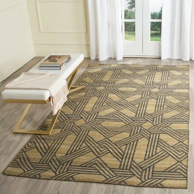 Fitzpatrick Hand-Woven Olive/Gray Area Rug Rug Size: 4 x 6