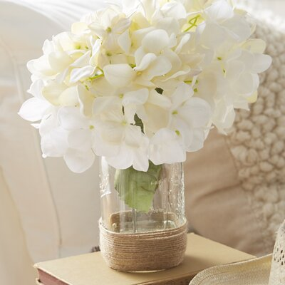 Hydrangea Bouquet in Rope Embellished Mason Jar