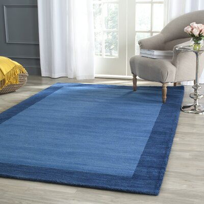 Southbury Hand-Loomed Blue Area Rug Rug Size: Rectangle 6' x 9'