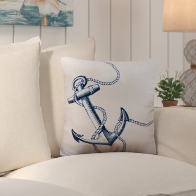 Sweetwood Anchor Outdoor Throw Pillow Size: 26 W x 26 D