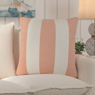 Trimaran Linen Throw Pillow Size: 18 H x 18 W, Color: Peach
