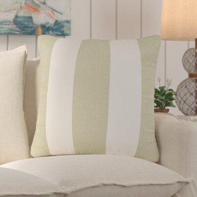 Trimaran Linen Throw Pillow Size: 22 H x 22 W, Color: Sage / Green
