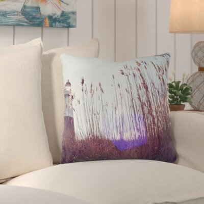 Mina Teslaru Lighthouse Throw Pillow Size: 16 H x 16 W x 2 D