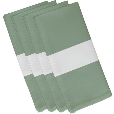 Woodmont Stripe Napkin Color: Pale Celery, Size: 19