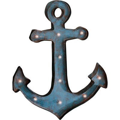 Anchor Blue Metal LED Wall Décor