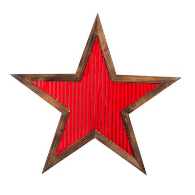 Breakwater Bay Wood and Corrugated Metal Star Wall Decor