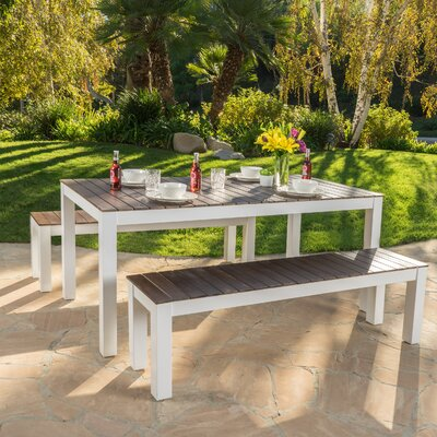 Breakwater Bay St Croix 3 Piece Wood Picnic Set