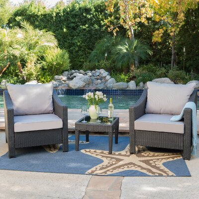 Summerland 4 Piece Lounge Seating Group With Cushion
