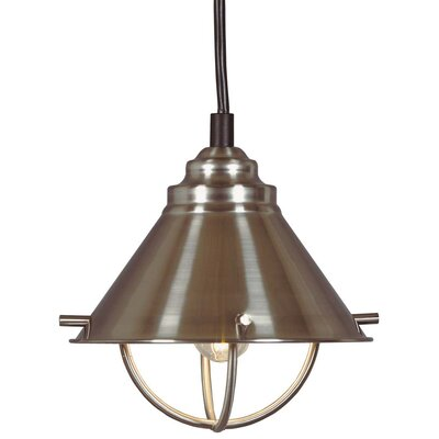 Antiqua LED 1-Light Mini Pendant Finish: Brushed Steel