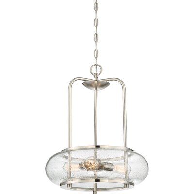 Braxton 3-Light Drum Pendant Finish: Brushed Nickel