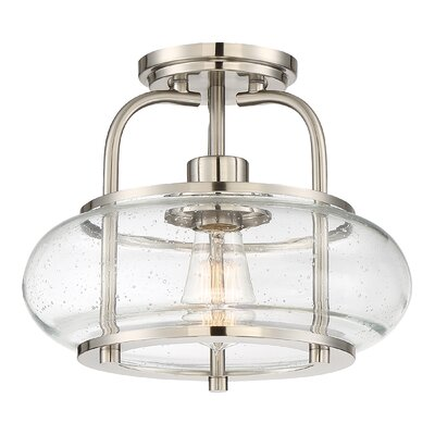 Branchview 1-Light Semi Flush Mount Finish: Brushed Nickel